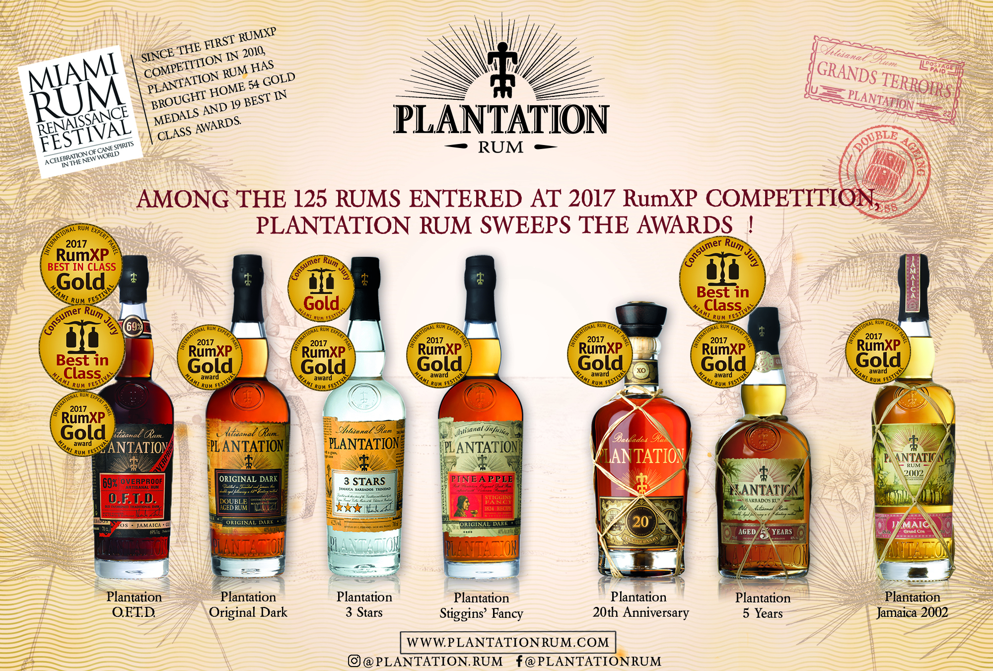 7 -MAY PLANTATION - 2017medal Miami Rum Fest